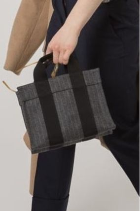 17/18AW[RUE DE VERNEUIL] BABY TOTE striped grey