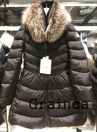 MONCLER★17/18AW  シルエットが綺麗ファー付きMIRIELON★関税込
