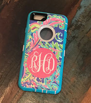 Monogrammed Lilly Pulitzer Inspired Otterbox Defender Case