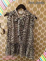 レオパードが素敵!Kate spade★leopard-print clipped dot top