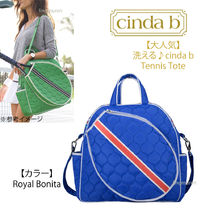 【大人気】洗える♪ cinda b☆Tennis Tote《Royal Bonita》