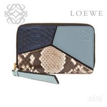 LOEWE★ロエベ Puzzle Zip Card Holder Stone Blue/Multicolor