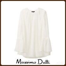 MassimoDutti♪GEOMETRIC PLEATED BLOUSE WITH FLARED DETAIL
