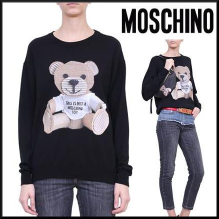送料・税込★MOSCHINO★Teddy Bear Wool セーター