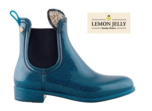 【LEMON JERRY】 Kid ankle boot Transparent Sapphire Blue