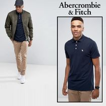 Abercrombie & Fitch Stretch Slim Fit  Iconピケポロ/ネイビー