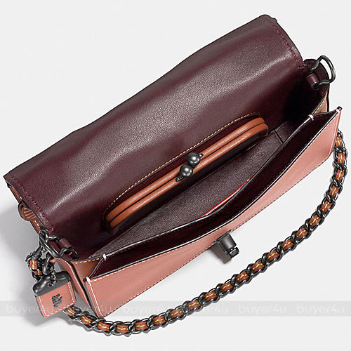 COACH★DINKY IN GLOVETANNED LEATHER WITH TEA ROSE 38197