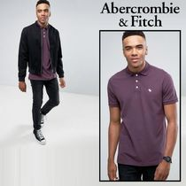 Abercrombie & Fitch Stretch Slim Fit  Iconピケポロ/プラム