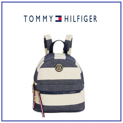 Tommy Hilfiger Rugby Small Dome ストライプバックパック