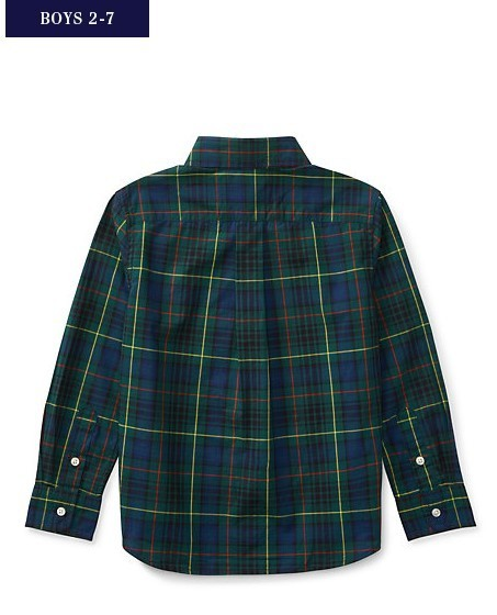 新作♪ 国内発送 TARTAN COTTON POPLIN SHIRT boys 2~7