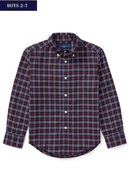 新作♪ 国内発送 PLAID COTTON OXFORD SHIRT boys 2~7