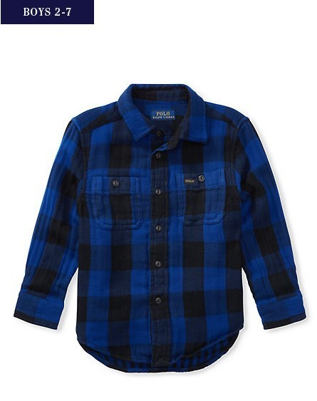 新作♪ 国内発送 PLAID COTTON WORKSHIRT boys 2~7