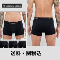 Abercrombie & Fitch 3 Pack トランク ロゴ Waistband ブラック