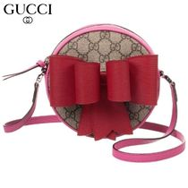【GUCCI(グッチ)】Round 'GG' Bag with Bow (16cm)
