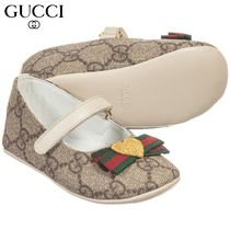 【GUCCI(グッチ)】 Beige 'GG' Pre-Walker Shoes