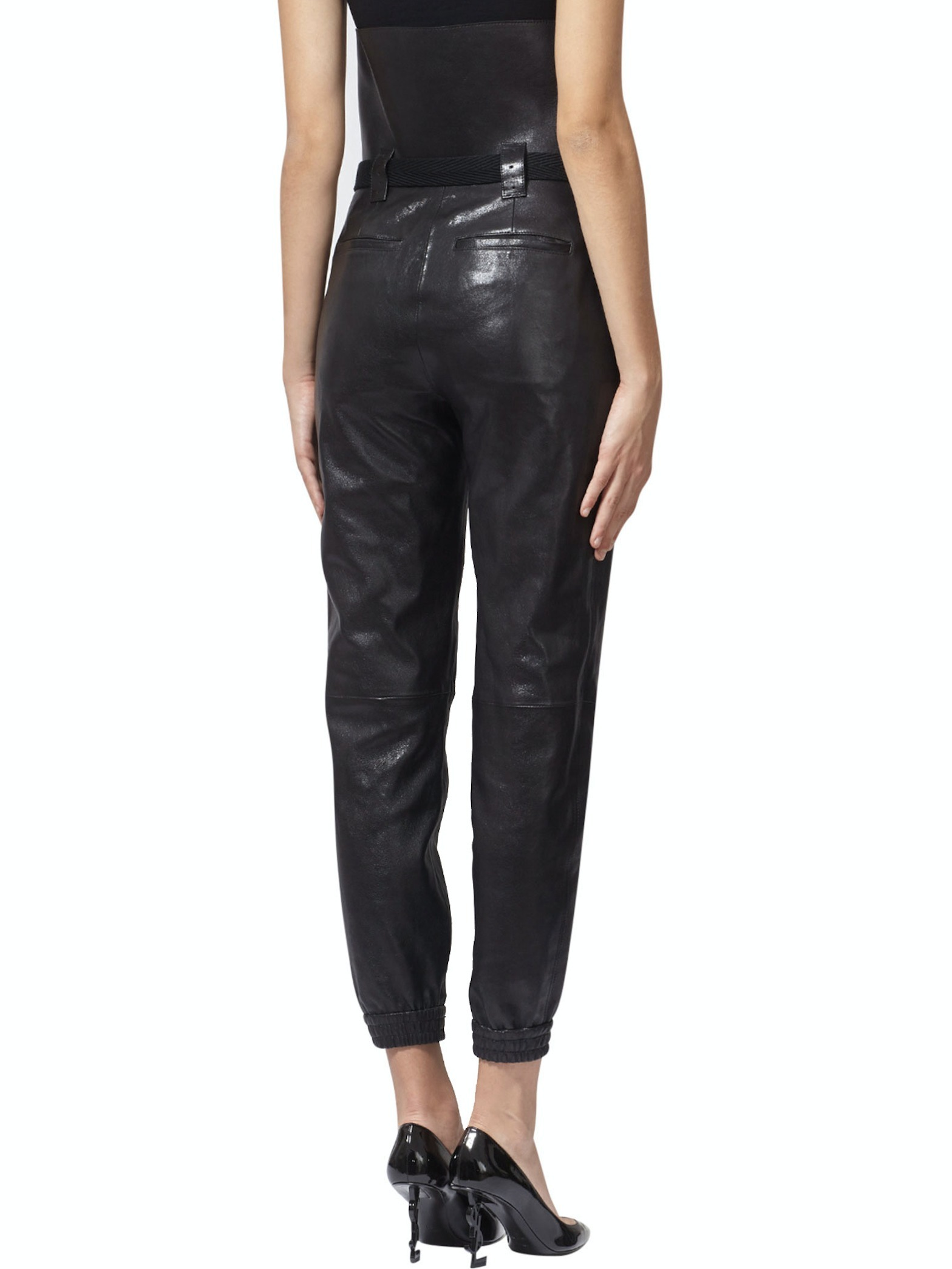 17-18AW WSL1175 HIGH WAIST LEATHER PANTS