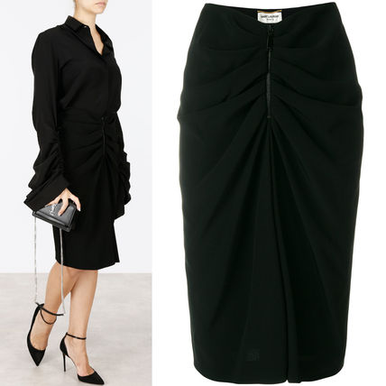 17-18AW WSL1182 GATHERED MIDI SKIRT