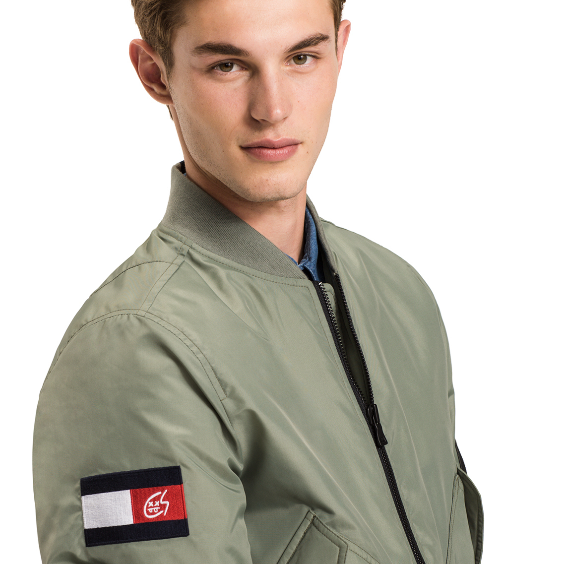 Tommy Hilfiger X Thechainsmokers Army Bomber ジャケット MA-1