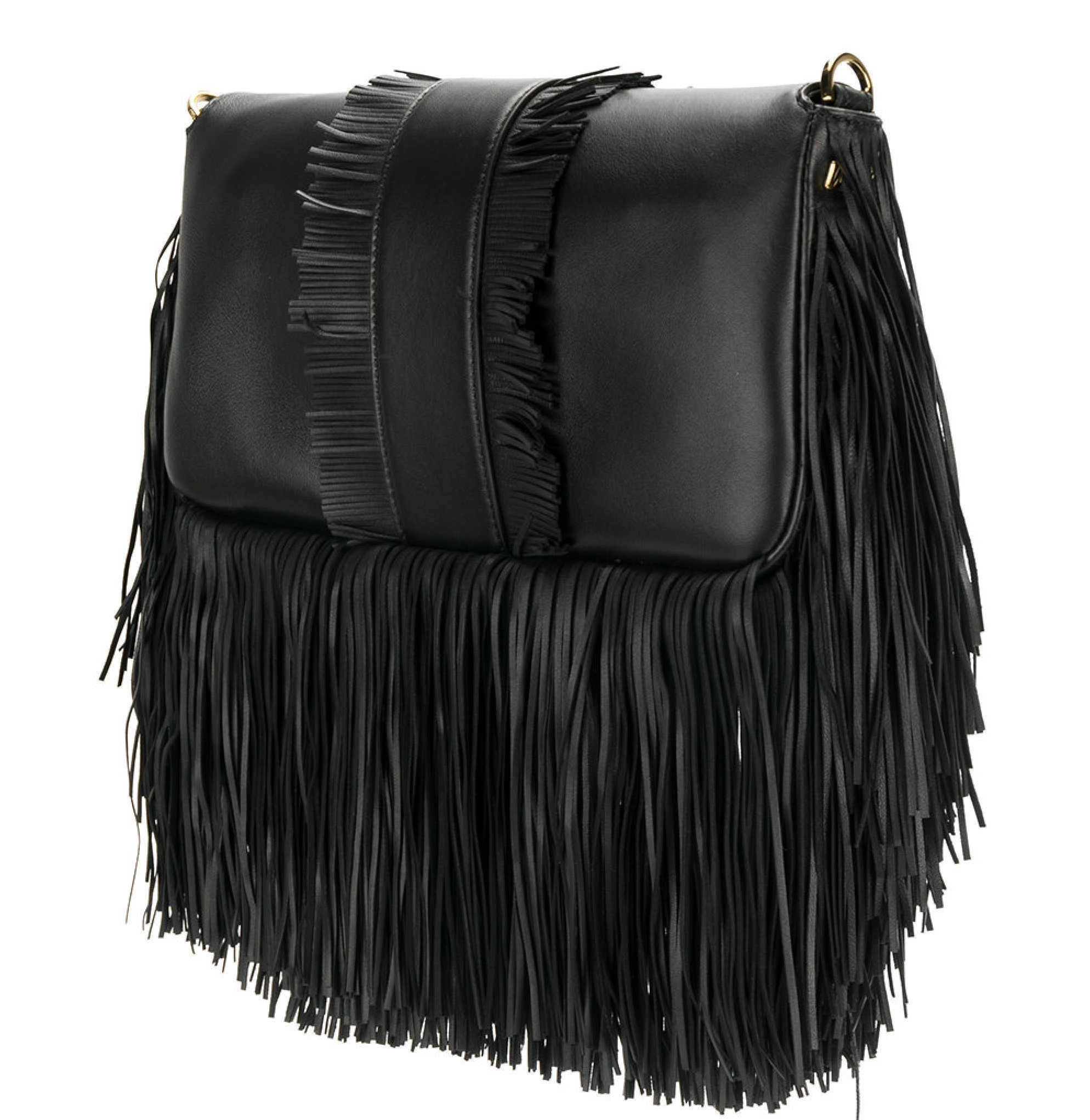 FE1797 FRINGED BAGUETTE WITH F BUCKLE