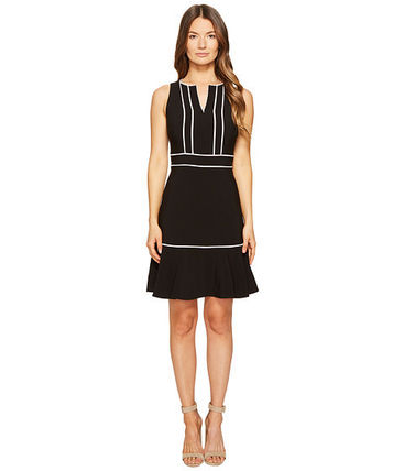 kate spade new york lace inset crepe dress