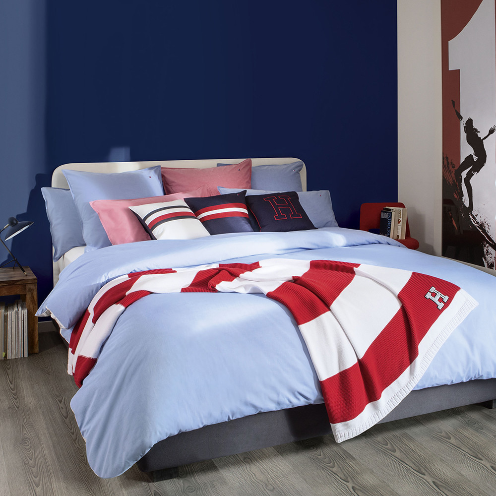 【Tommy Hilfiger】Chambray Duvet Cover Blue ☆ダブル☆セット