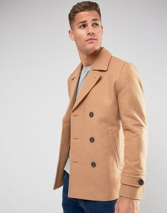 着回し力 ASOS Wool Mix Peacoat In Light Camel