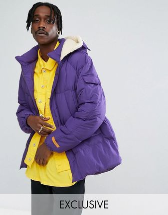 着回し力 The New County Oversized Puffer Jacket In Purple