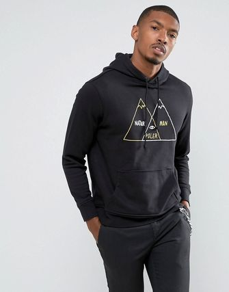 着回し力 Poler Hoodie With Large Mountain Logo