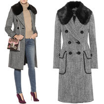 17-18AW DG1327 FUR TRIMMED WOOL COAT