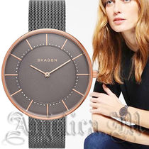 【安心ヤマト便】SKAGEN Gitte Gray Steel-Mesh Watch SKW2584