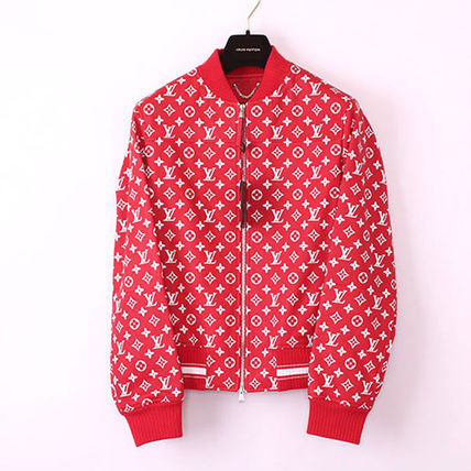 ■Supreme × Louis Vuitton Leather Baseball Jacket  44■j160