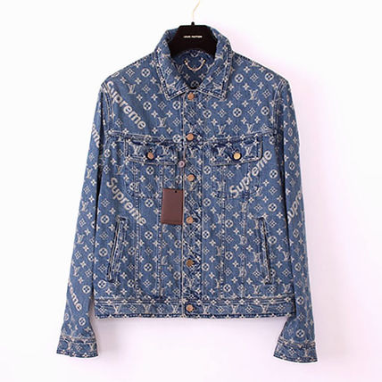 ■Supreme Louis Vuitton Jacquard Denim Trucker Jacket■j160