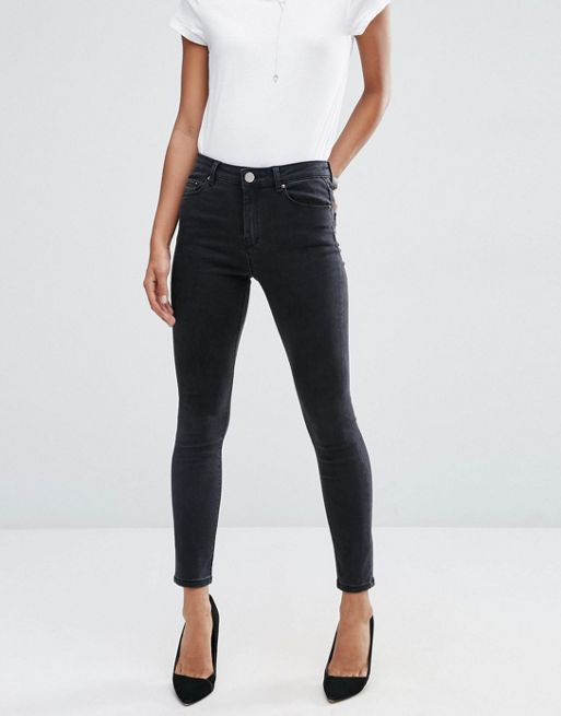 ASOS!RIDLEY Skinny Jeans in Washed Black デニム