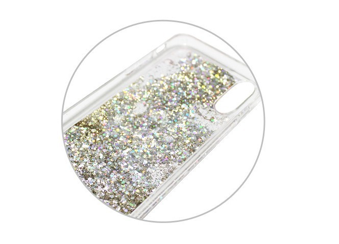 iPhone Xケース icover Sparkle case Space ラメ カバー