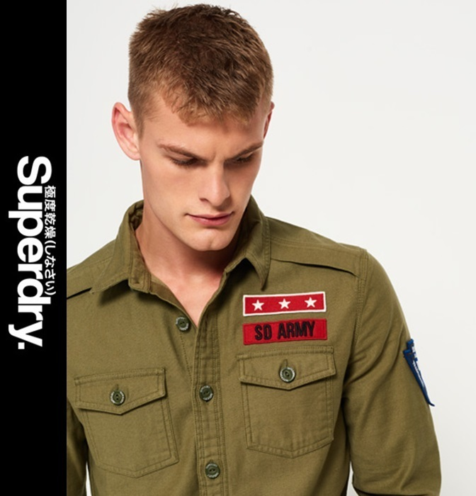 ★送料込★Superdry★Army Corps Long Sleeve Shirt★