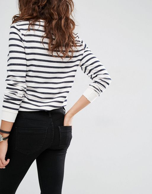 ASOS!Whitby Low Rise Skinny Jeans In Clean Black デニム