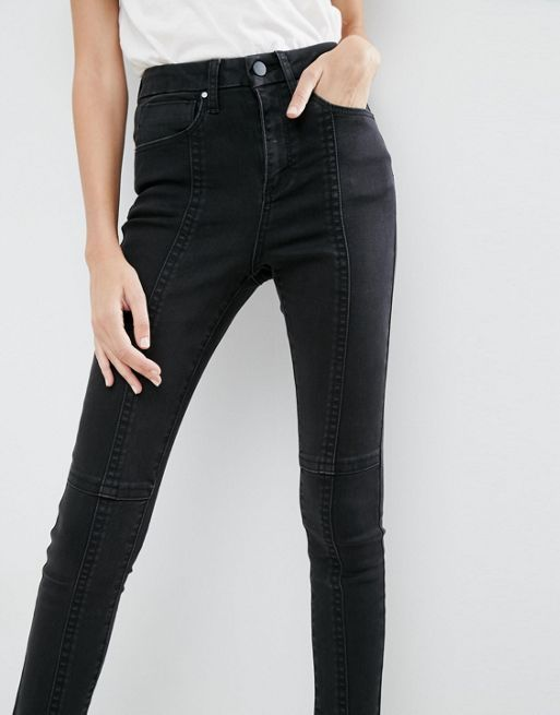 ASOS!SCULPT ME High Waisted Premium Jeans in Washed  デニム