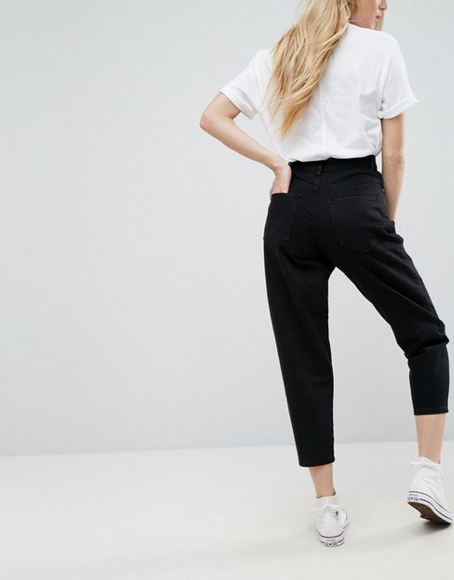 ASOS!Balloon Leg Jeans in Washed Black デニム