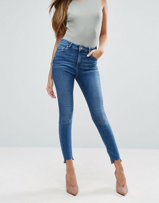 ASOS!RIDLEY Skinny Jeans In Roy Dark Stonewash with  デニム