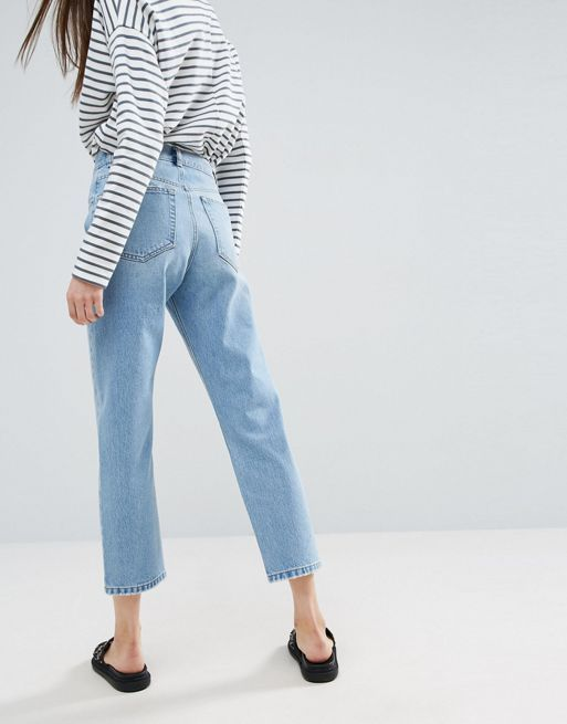 ASOS!FLORENCE Authentic Straight Leg Jeans in Cambri デニム