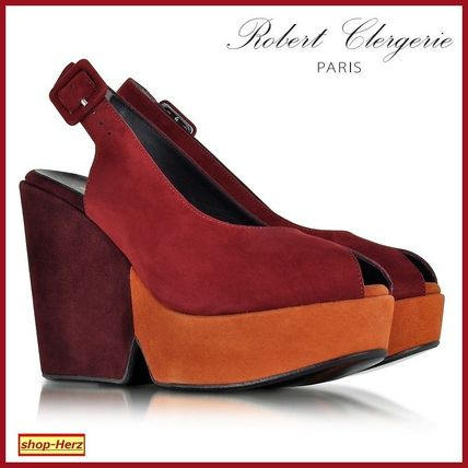 ★Robert Clergerie★Dylanal Color Block Suedeサンダル 関税込