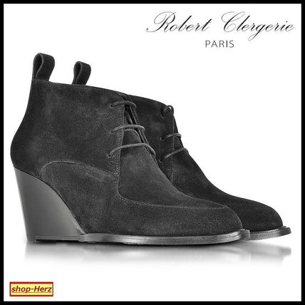 ★Robert Clergerie★ Orso Black Suede Wedge ブーツ 関税込
