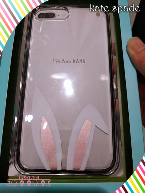 Kate spade 7plus case☆im all ears☆うさちゃんの耳が可愛い
