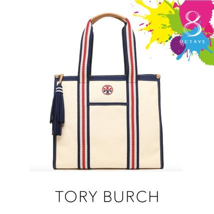 Tory Burch マザーズバッグ 【トリーバーチ】EMBROIDERED-T TOTE トート35910/オフホワイト(2)