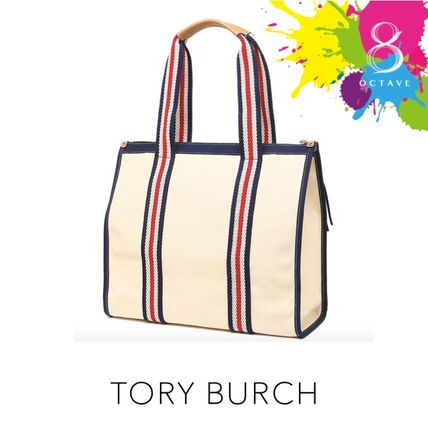 Tory Burch マザーズバッグ 【トリーバーチ】EMBROIDERED-T TOTE トート35910/オフホワイト(3)