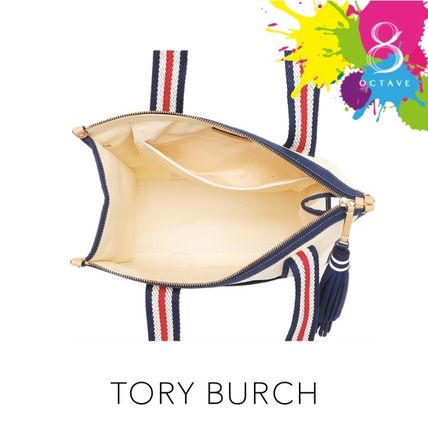 Tory Burch マザーズバッグ 【トリーバーチ】EMBROIDERED-T TOTE トート35910/オフホワイト(4)