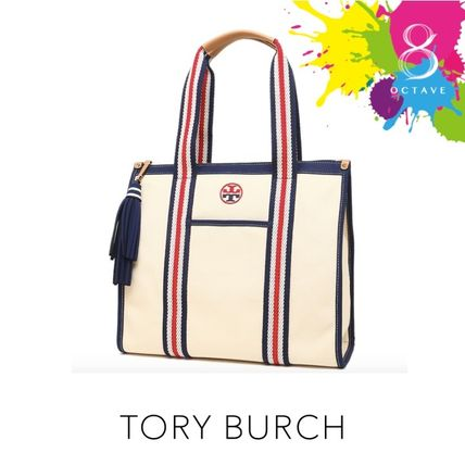 Tory Burch マザーズバッグ 【トリーバーチ】EMBROIDERED-T TOTE トート35910/オフホワイト(5)