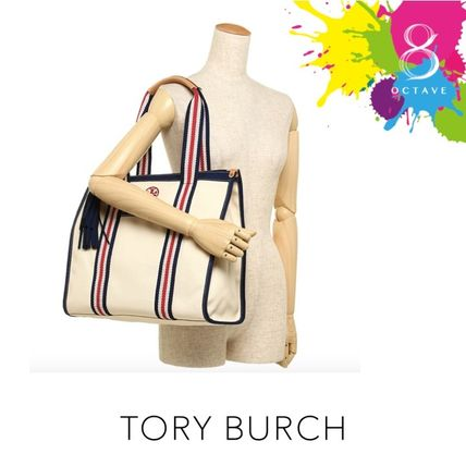 Tory Burch マザーズバッグ 【トリーバーチ】EMBROIDERED-T TOTE トート35910/オフホワイト(6)