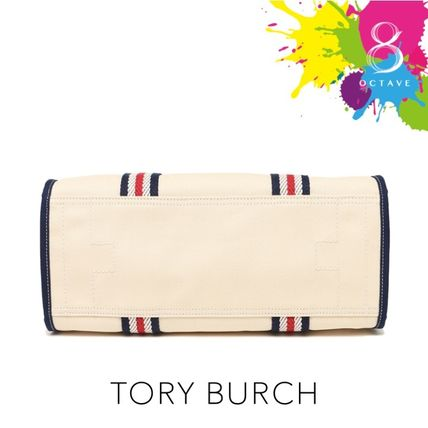 Tory Burch マザーズバッグ 【トリーバーチ】EMBROIDERED-T TOTE トート35910/オフホワイト(7)