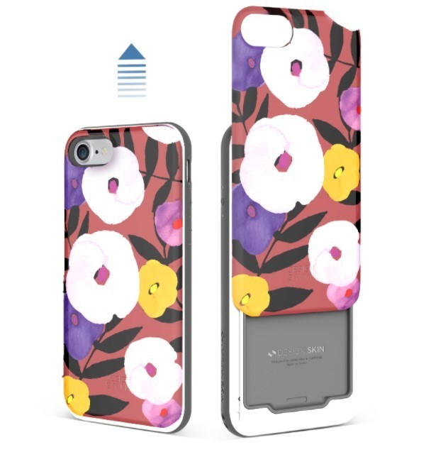 IPHONE 7 SLIDER 17F/FLOWER CARD CASE